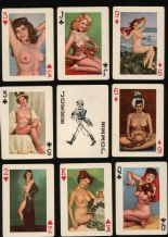 Vintage Collectable Pinup playing cards.Lucky Chips
